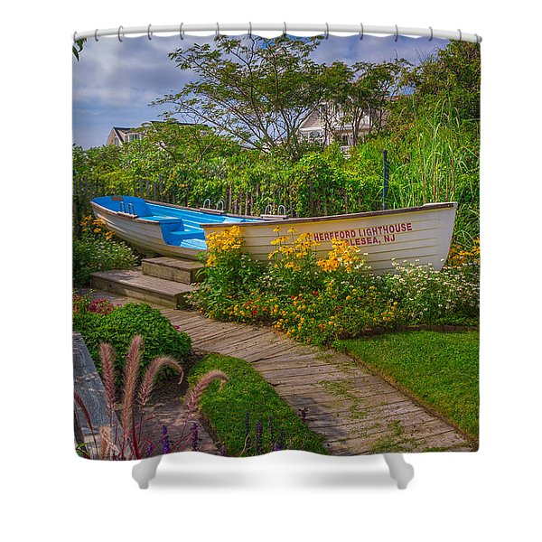 Lifeboat Seating Shower Curtain