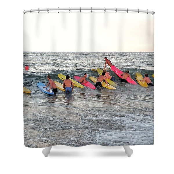 Lifeguard Competition Shower Curtain