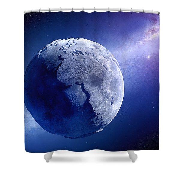 Lifeless Earth Shower Curtain