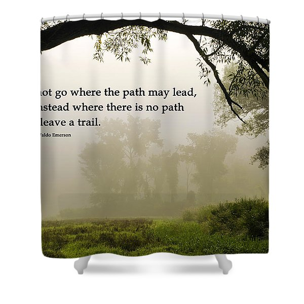 Life's Path Inspirational Art Shower Curtain