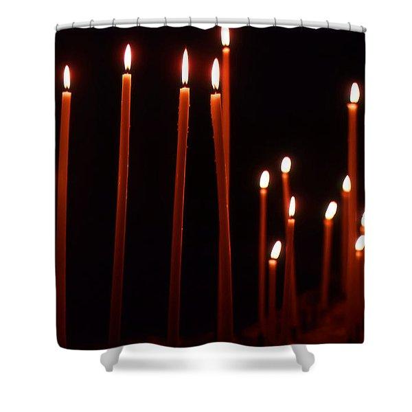 Light A Candle Say A Prayer Shower Curtain