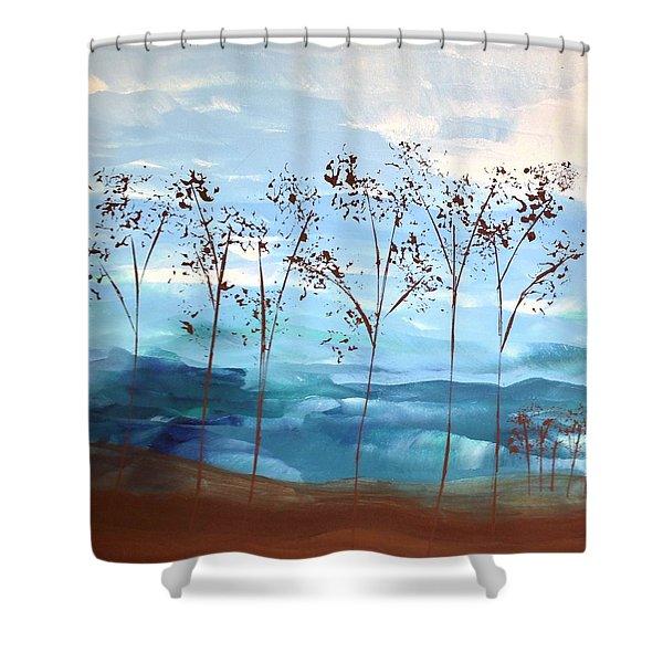 Light Breeze Shower Curtain