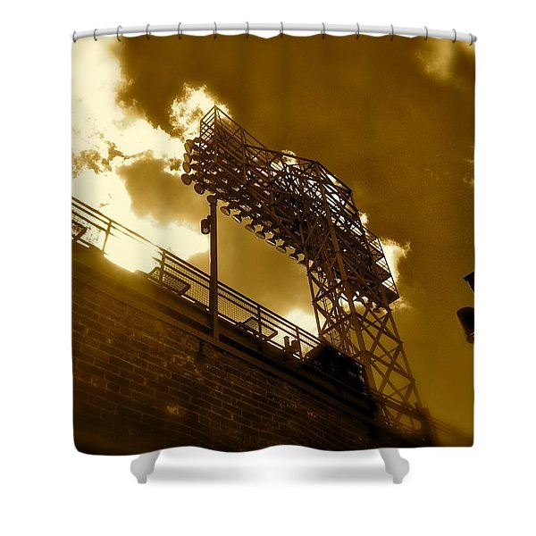 Light  Fenway Park Shower Curtain