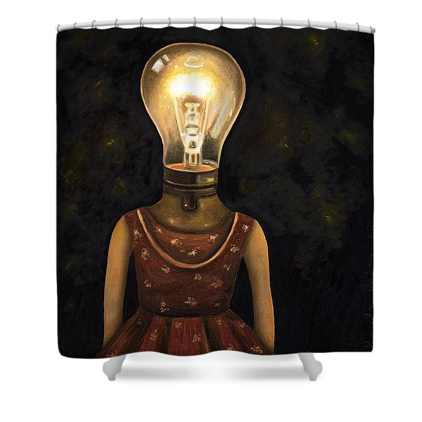 Light Headed Shower Curtain