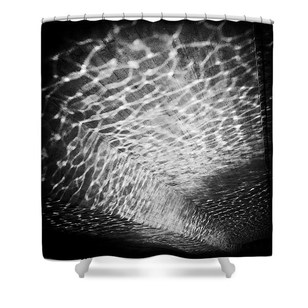 Light Reflections Black And White Shower Curtain