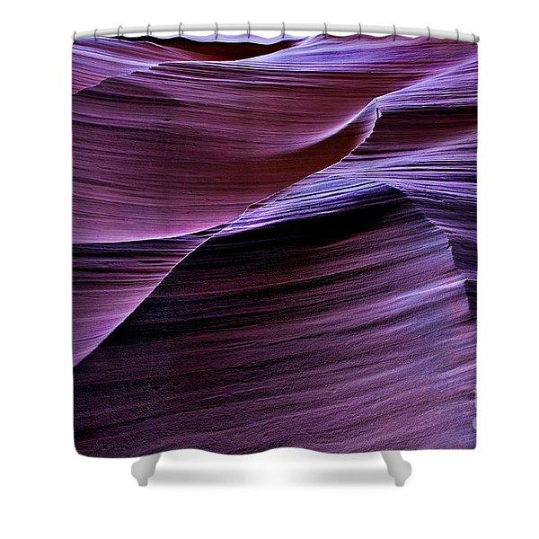 Light Waves Shower Curtain