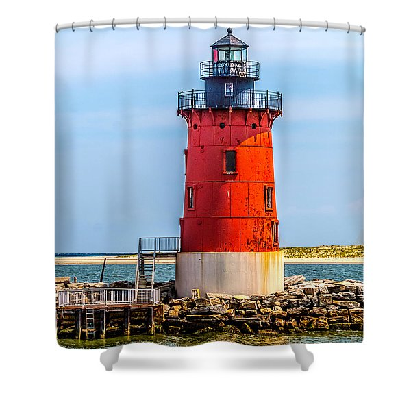 Lighthouse At The Delaware Breakwater Shower Curtain