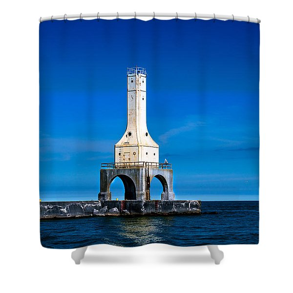 Lighthouse Blues Shower Curtain