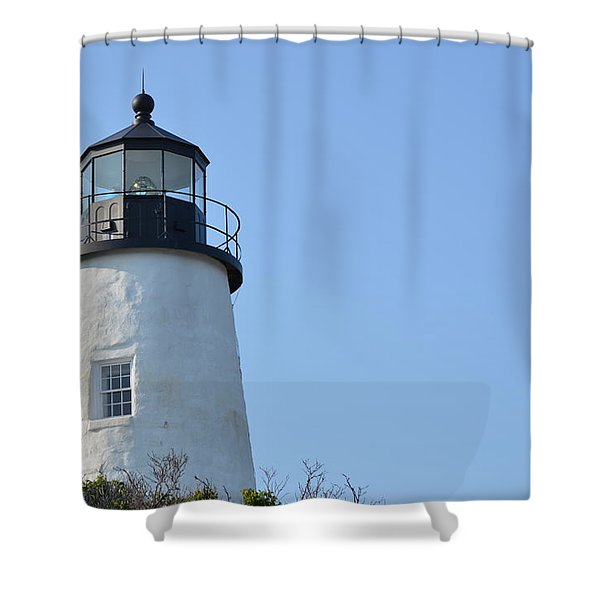 Lighthouse On Clear Day Shower Curtain