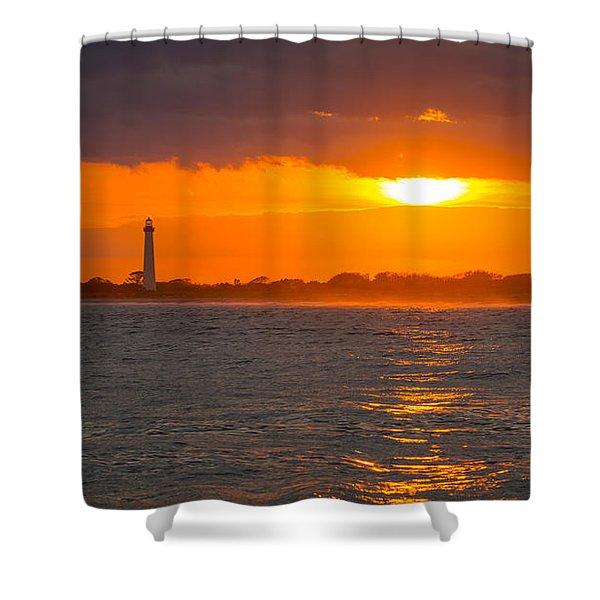 Lighthouse Sun Reflections Shower Curtain