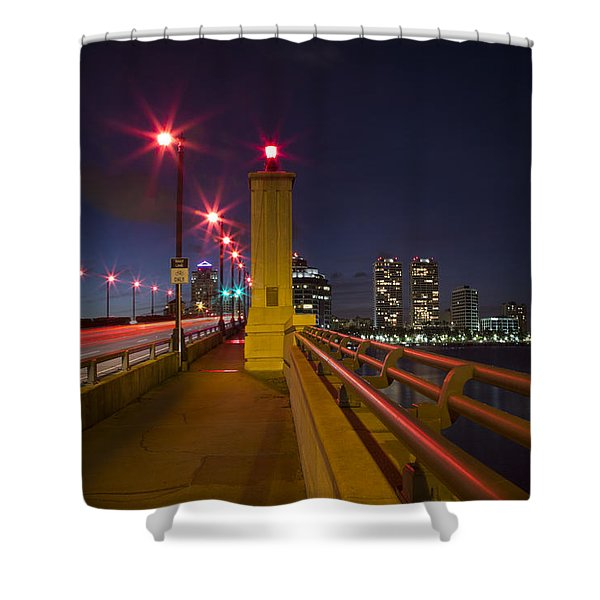 Lights At Night Shower Curtain