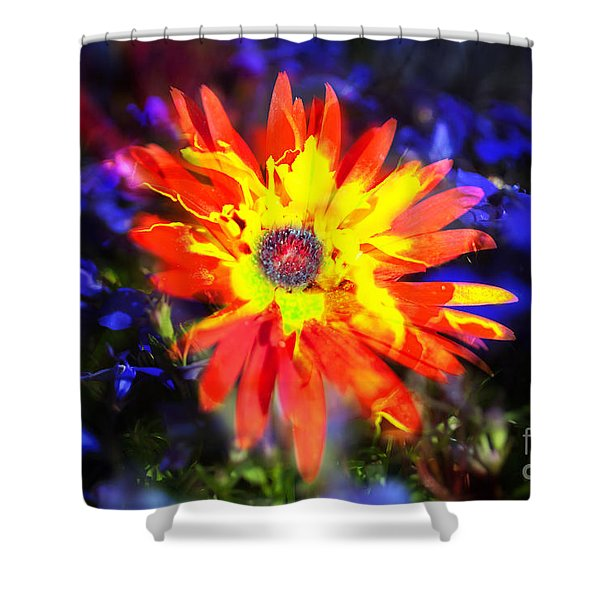 Shower Curtain featuring the photograph Lily In Vivd Colors by Gunter Nezhoda