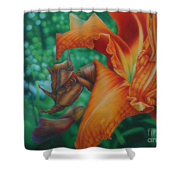 Lily's Evening Shower Curtain