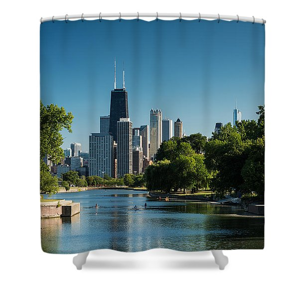 Lincoln Park Chicago Shower Curtain