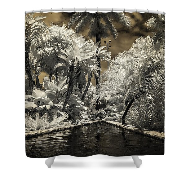 Lincoln Road Pool Shower Curtain