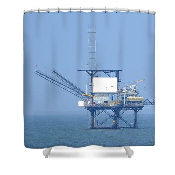 Linked Gas Platform Shower Curtain