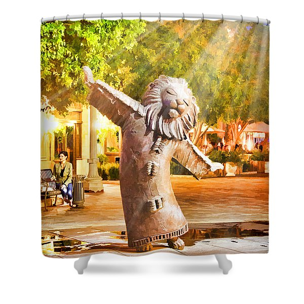 Lion Fountain Shower Curtain