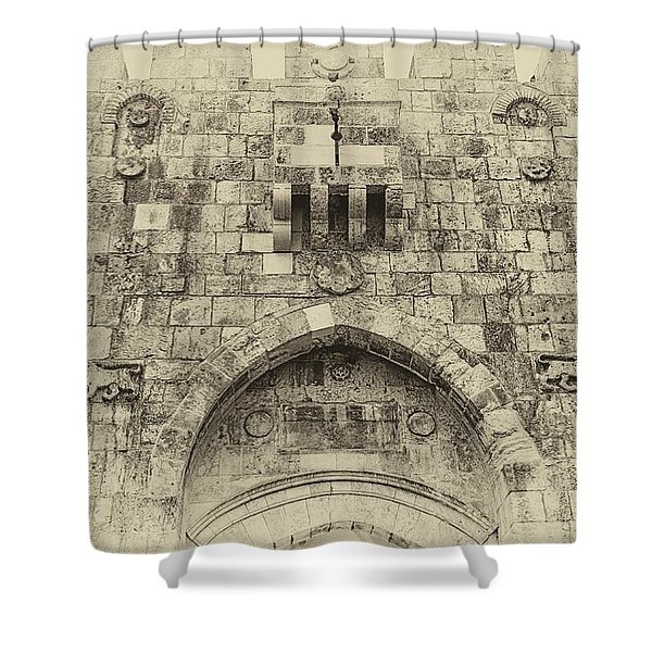 Lion Gate Jerusalem Old City Israel Shower Curtain