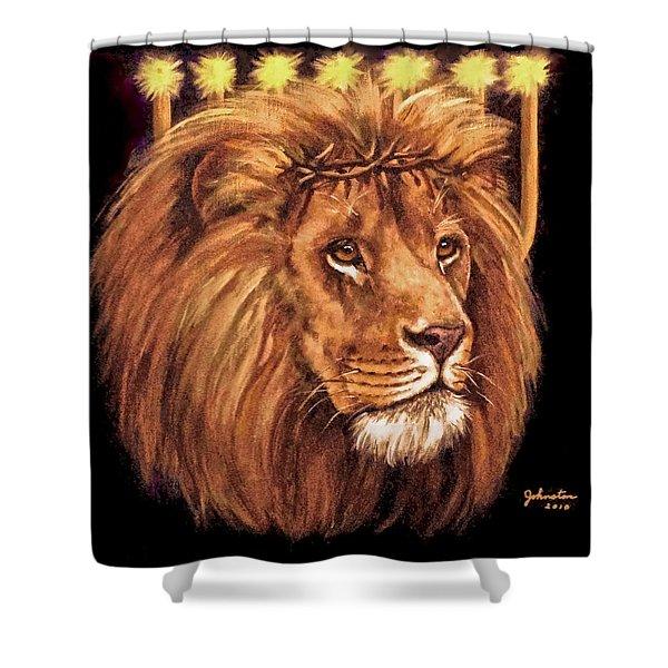Lion Of Judah - Menorah Shower Curtain