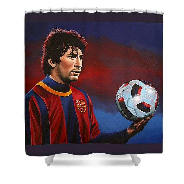 Lionel Messi 2 Shower Curtain