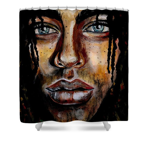 Liquid Stare Shower Curtain