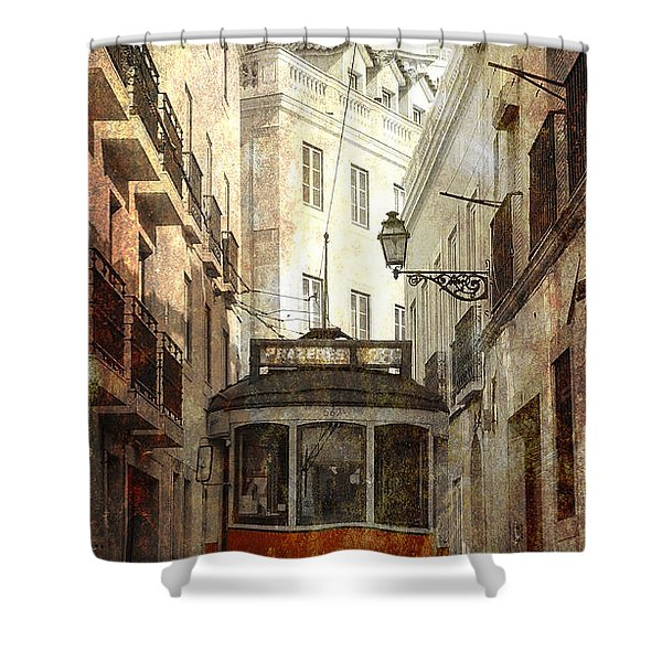 Lisbon Streetcar Shower Curtain