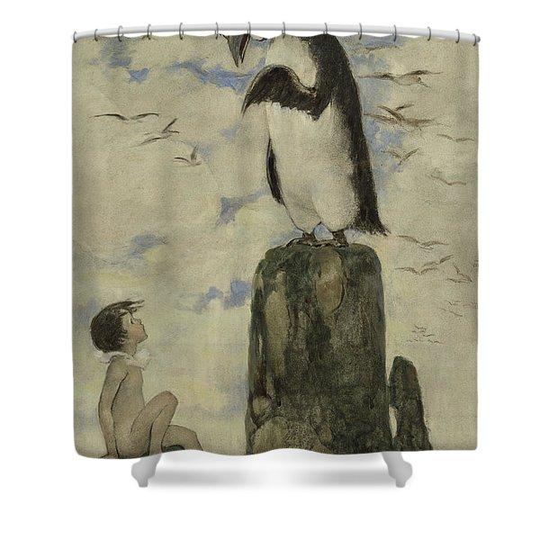 Listen Carefully Circa 1916 Shower Curtain