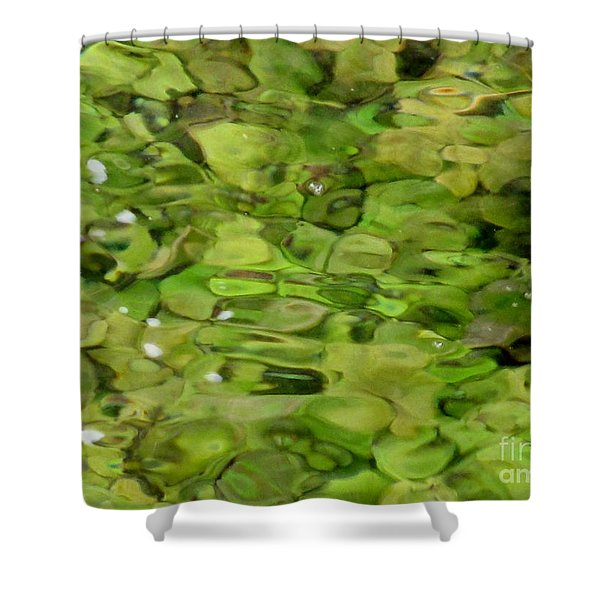 Lite Watery Green Shower Curtain