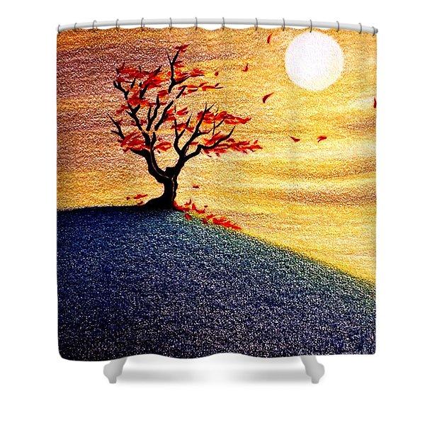 Little Autumn Tree Shower Curtain