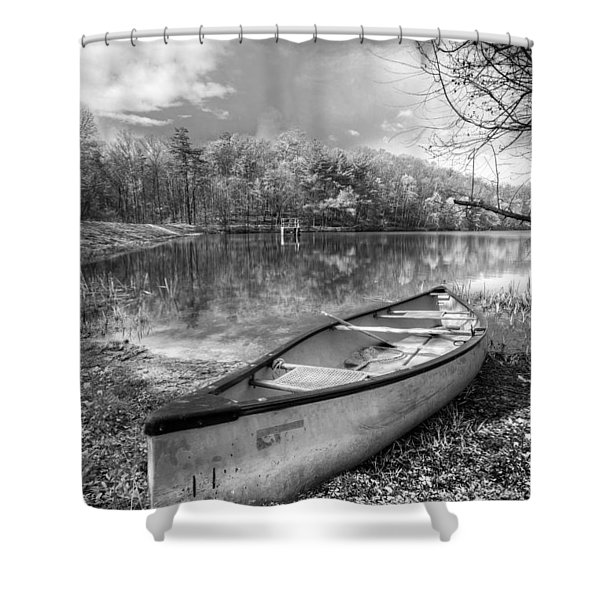 Little Bit Of Heaven Black And White Shower Curtain