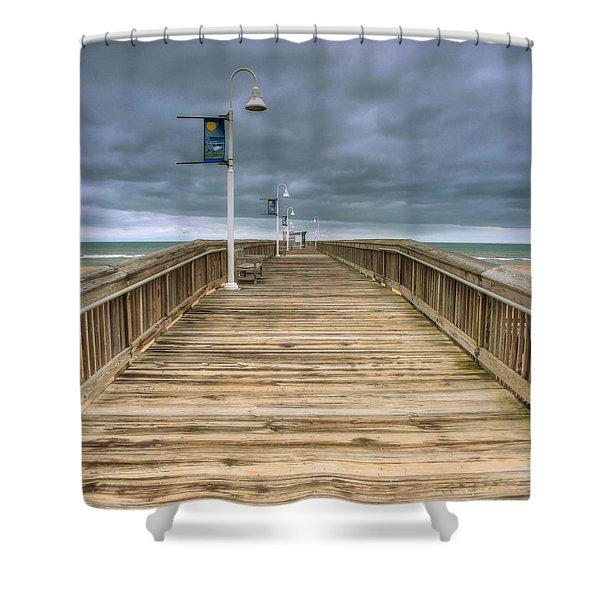 Little Island Pier Shower Curtain