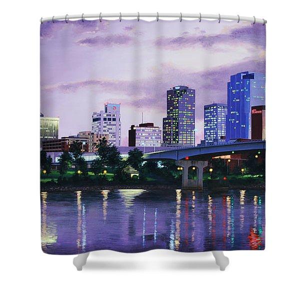 Little Rock Skyline Shower Curtain