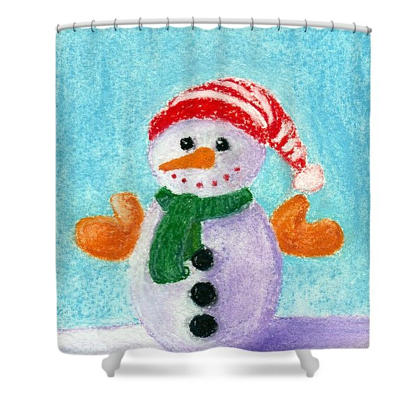 Little Snowman Shower Curtain