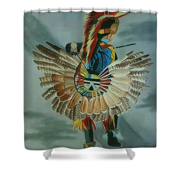 Little Warrior Shower Curtain