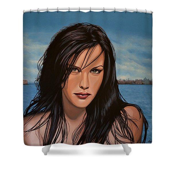 Liv Tyler Shower Curtain