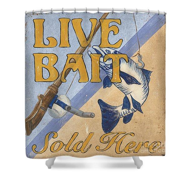 Live Bait Shower Curtain