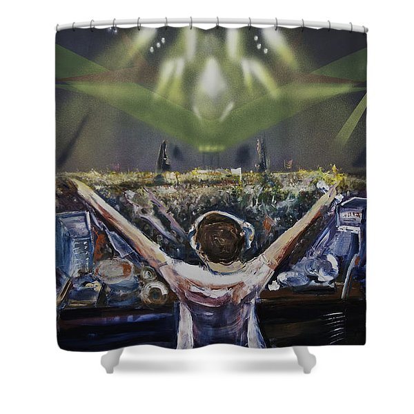 Live Dj Shower Curtain