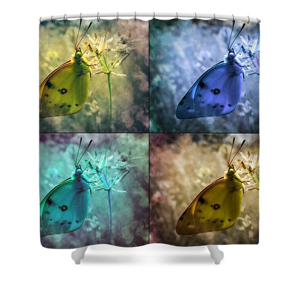 Lives Of A Butterfly Shower Curtain
