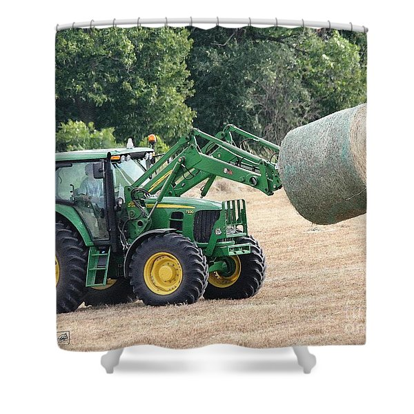 Loading Hay Shower Curtain
