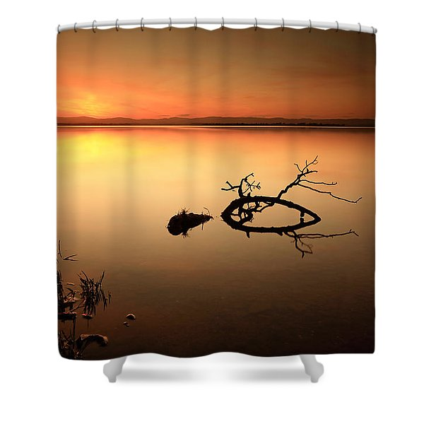 Loch Leven Sunset Shower Curtain