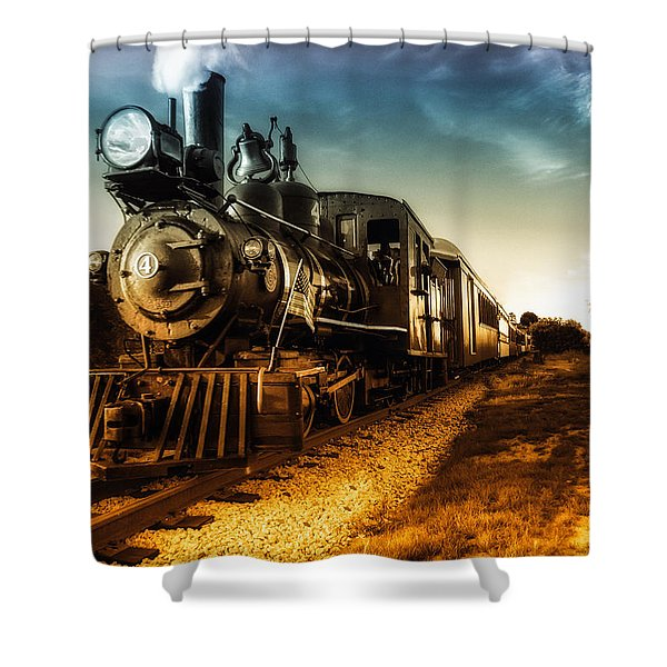 Locomotive Number 4 Shower Curtain