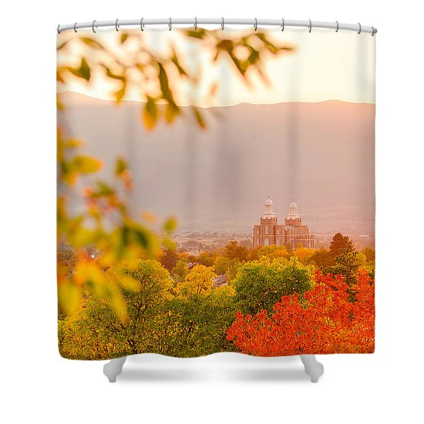 Logan Temple Shower Curtain
