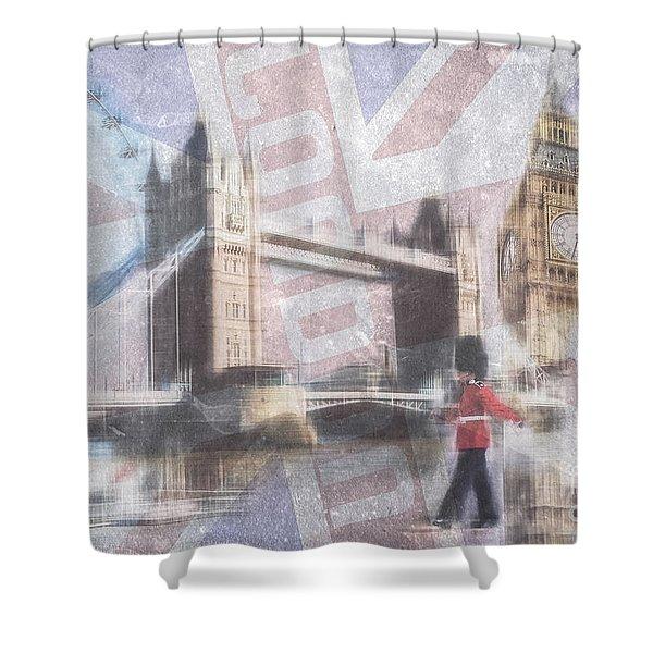 London Blue Shower Curtain
