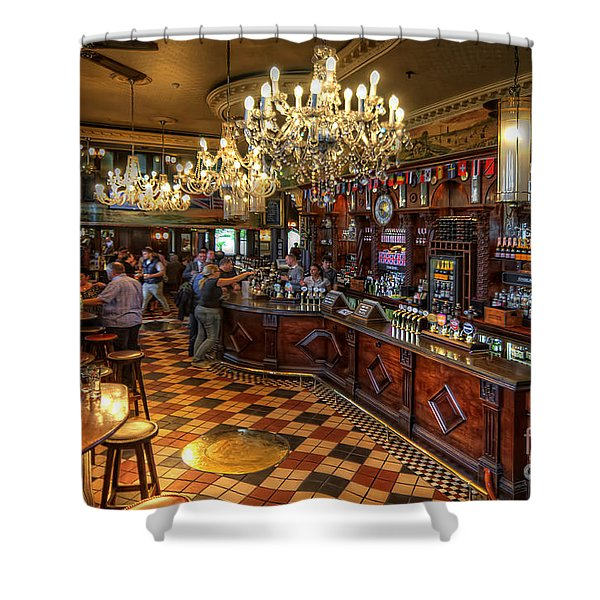 London Bridge Pub Shower Curtain