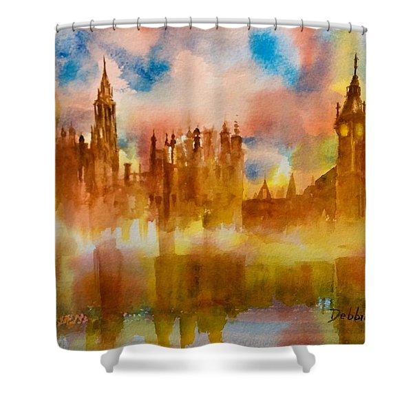 London Rising Shower Curtain