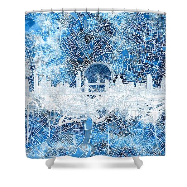 London Skyline Abstract 13 Shower Curtain