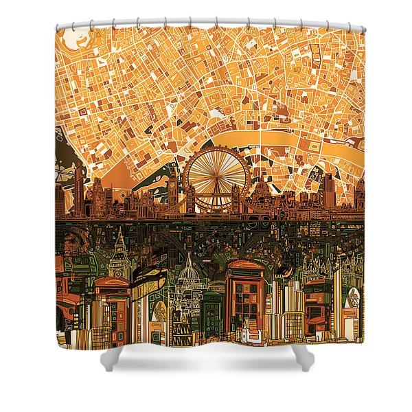 London Skyline Abstract 7 Shower Curtain