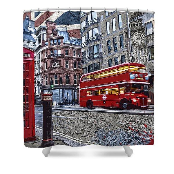 London Street Creation Shower Curtain