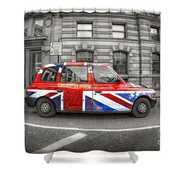 London's Calling Shower Curtain