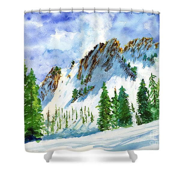 Lone Tree In The Afternoon Shower Curtain